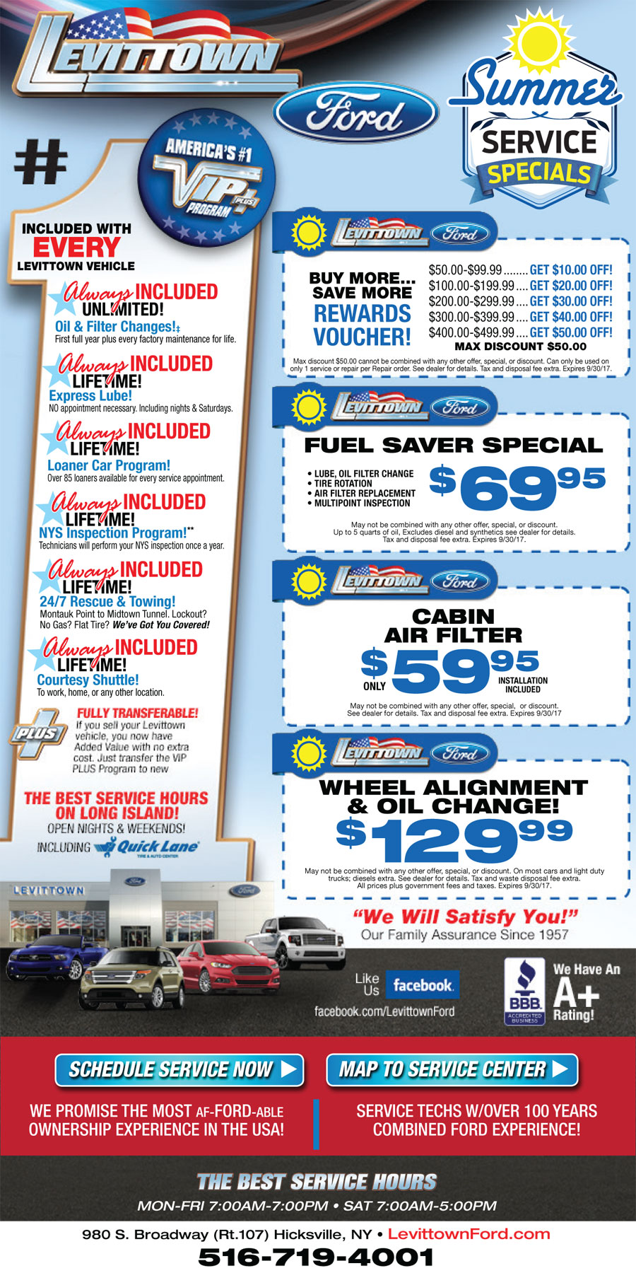 Performance Auto Sales >> Automotive Service Coupons Ford Long Island | Nassau County Auto Service